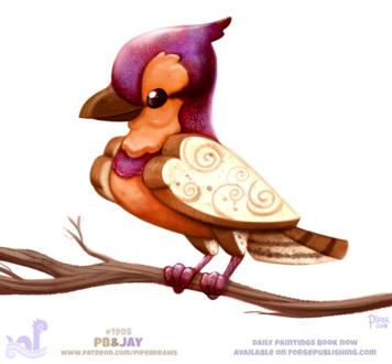 Фото Пряничная птичка на ветке дерева, by Cryptid-Creations