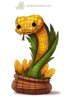 Фото Кукурузная змея в мешке с кукурузой, by Cryptid-Creations