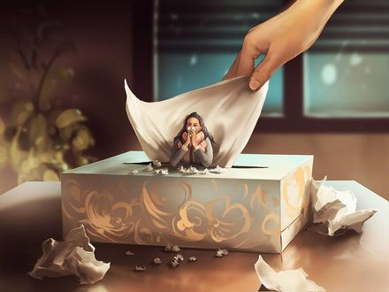 Фото Девушка в коробке с салфетками, by Aquasixio - Cyril ROLANDO