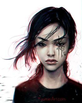 Фото Девушка со знаком на глазе, by Yuumei_Art