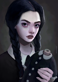 Фото Уэнсди Аддамс / Wednesday Addams из фильма Addams Family / Семейка Аддамс, by thirteenthangel