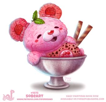 Фото Мороженный мишка в стаканчике от мороженного, by Cryptid-Creations