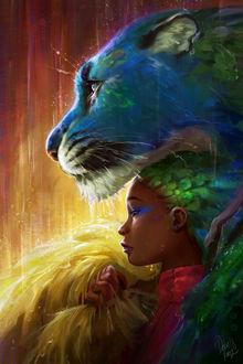 Фото Девушка и ягуар под дождем, by TamberElla