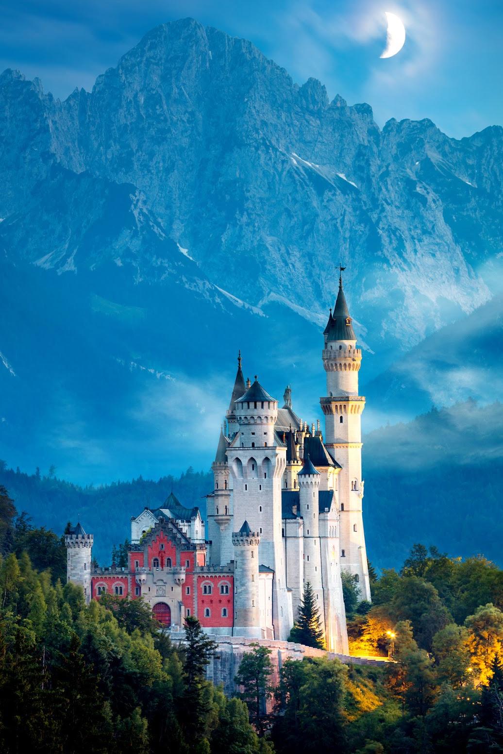 Обои Облака, бавария, германия, горы, природа, свет. Природа