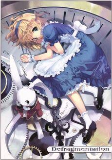 Фото Alice / Алиса и белый кролик на циферблате часов из сказки Alice in Wonderland / Алиса в стране чудес, by Ueda Ryou