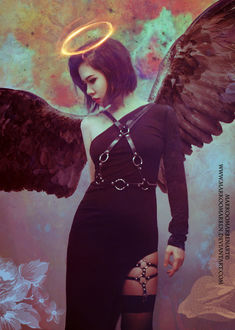 Фото NanFe в образе ангела тьмы, by MarkOoMarben