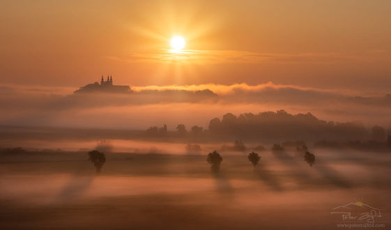 Фото Туманное утро в Sveta Trojica, Slovenija / Святую Троицу, Словения. Фотограф Peter Zajfrid