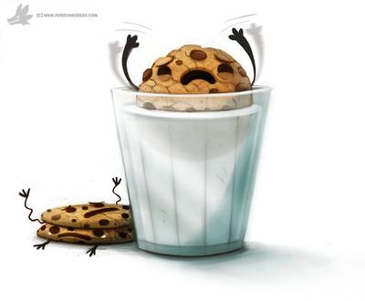 Фото Печенько тонет в молоке, by Cryptid-Creations