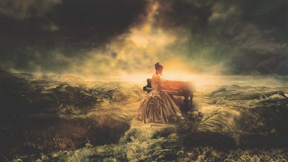 Фото Девушка за роялем на морской пучине, by Aste17