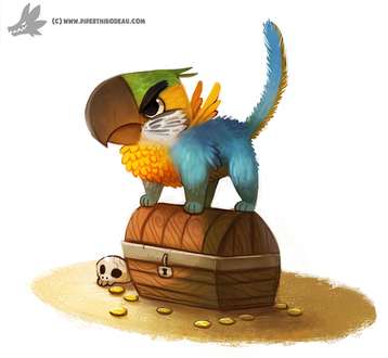Фото Мистический попугай на сундуке, by Cryptid-Creations