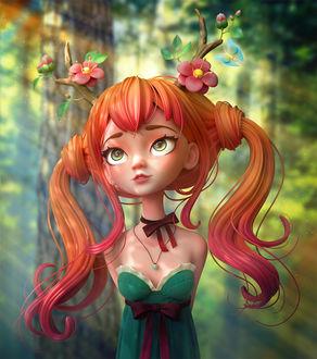 Фото Девочка с яркими волосами, by Alina Makarenko