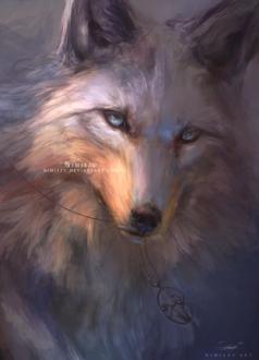 Фото Волк с кулоном в пасти, by Nimiszu