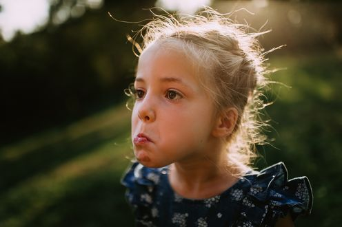 Фото Девочка скорчила рожицу, фотограф Виктория Романова