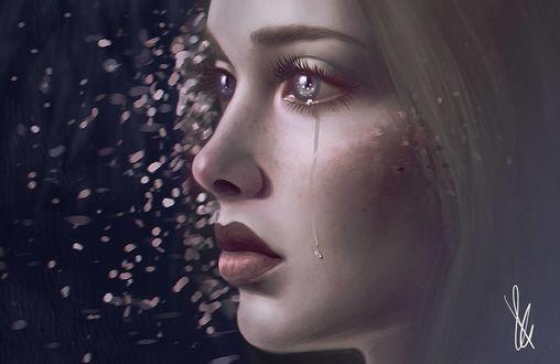 Фото Девушка со слезами в глазах, by palsie