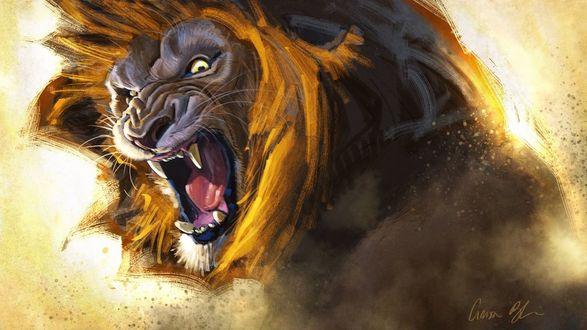 Фото Злой рычащих лев, by ablaise