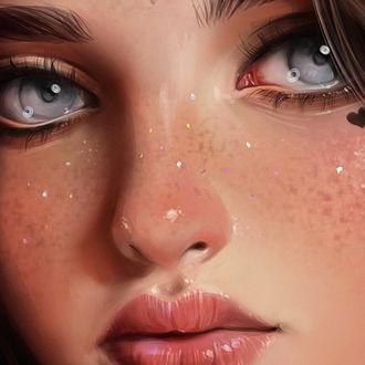 Фото Девушка с голубыми глазами, by bluesssatan