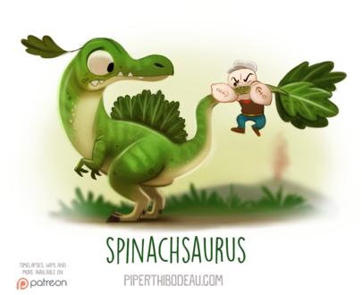 Фото Маленький мужчина с татуировкой хочет откусить хвост салатному динозаврику, by Cryptid-Creations