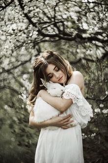 Фото Девушка Анна с кроликом на руках, by emuciss