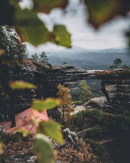 Фото Крыша дома среди осенней природы, by Tom Juenemann