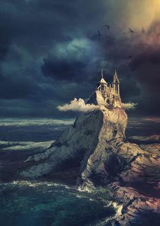 Фото Замок на скале в облаках, by Avi-li