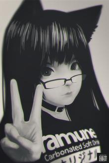 Фото Неко-девушка в очках, by Nekuro3