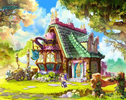 Фото Сказочный домик на фоне облачного неба от RYOxKJ