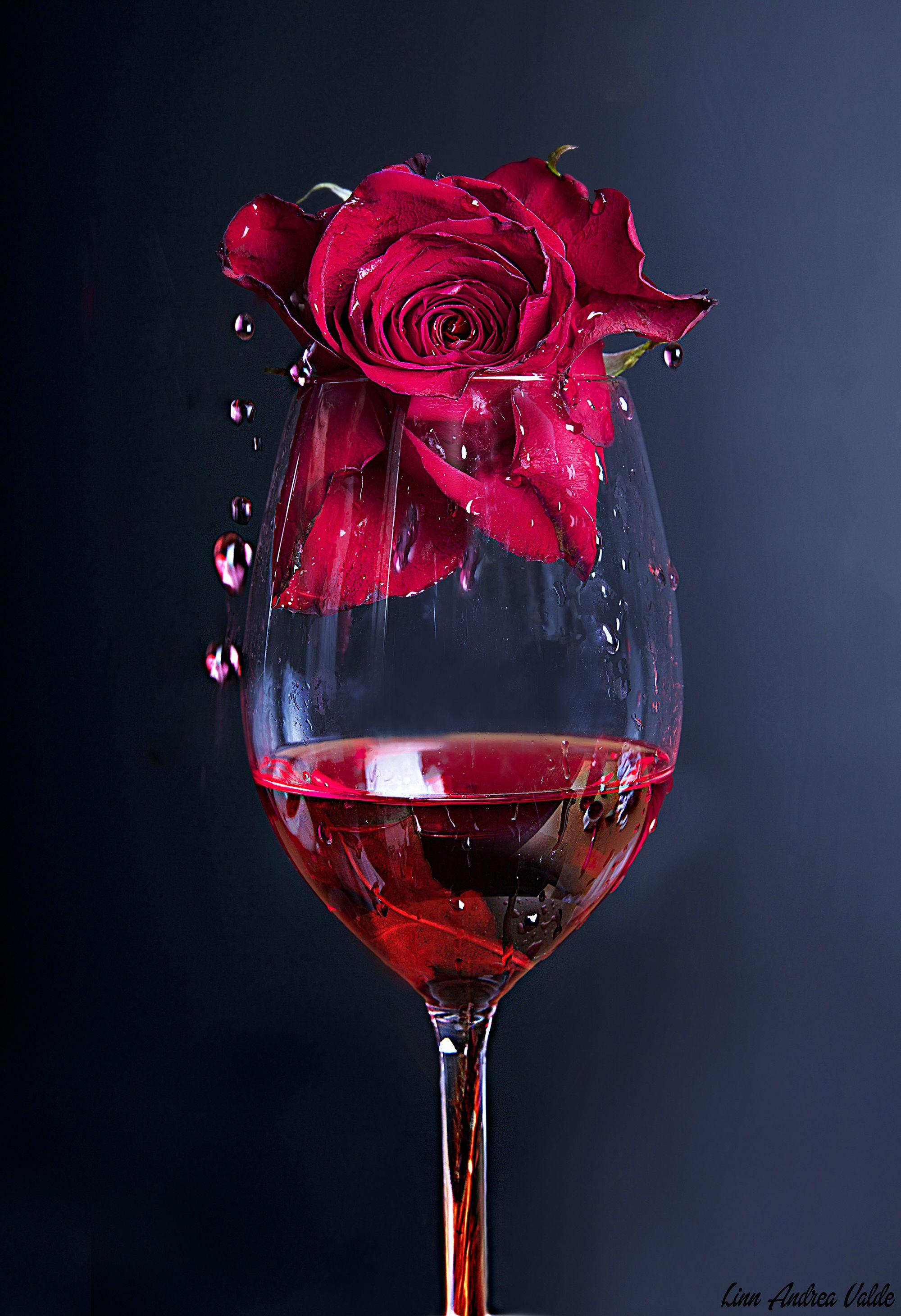 Прикольная, картинки гифы вино и розы