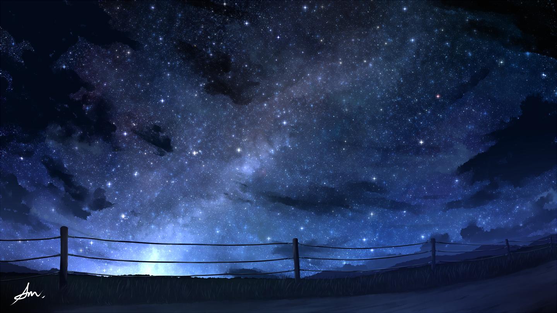 Фото Дорога вдоль забора на фоне ночного неба и млечного пути, by ALPCMAS
