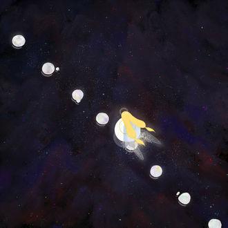 Фото Девочка с крылышками в космосе, by susame