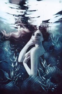 Фото Грустная девушка под водой, by escume