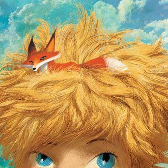 Фото У мальчика в копне его волос лежит лисичка, иллюстратор Poly Bernatene