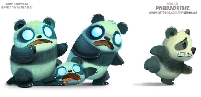 Фото Панда убегает от зомби-панд, by Cryptid-Creations