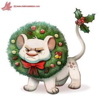 Рождественский веночек на льве, by Cryptid-Creations