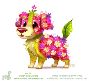 Фото Цветочный пес, by Cryptid-Creations