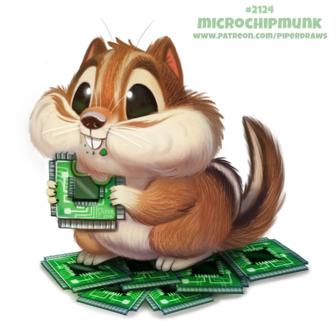 Фото Бурундук есть чипы, by Cryptid-Creations