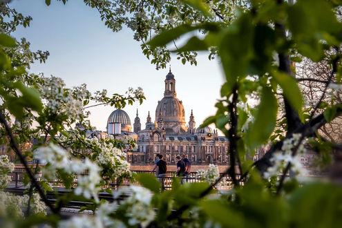 Фото Вид на город сквозь весенние ветки, by TobiasRoetsch