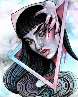 Фото Девушка с окровавленным лицом, by Rose Ellen Swenson