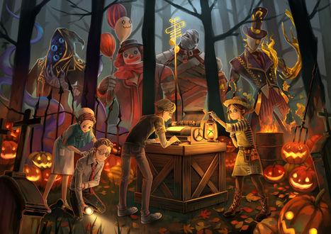 Фото Дети готовятся к хеллоуину