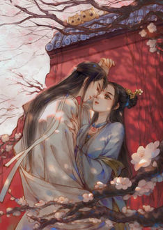 Фото Парень собирается поцеловать девушку, персонажи из китайского аниме Mo Dao Zu Shi / Магистр дьявольского культа