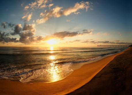 Фото Закат солнца над морем. Фотограф Димитър Стоянов