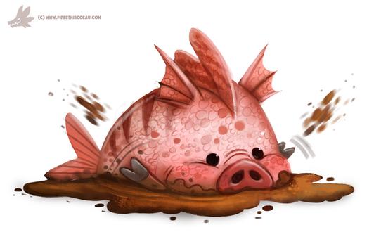 Фото Свинья-рыба в грязи, by Cryptid-Creations