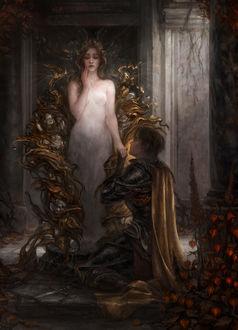 Фото Парень сидит у ног девушки, держа ее за руку, by Alex Stoller