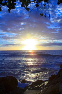 Фото Красивый закат над морем