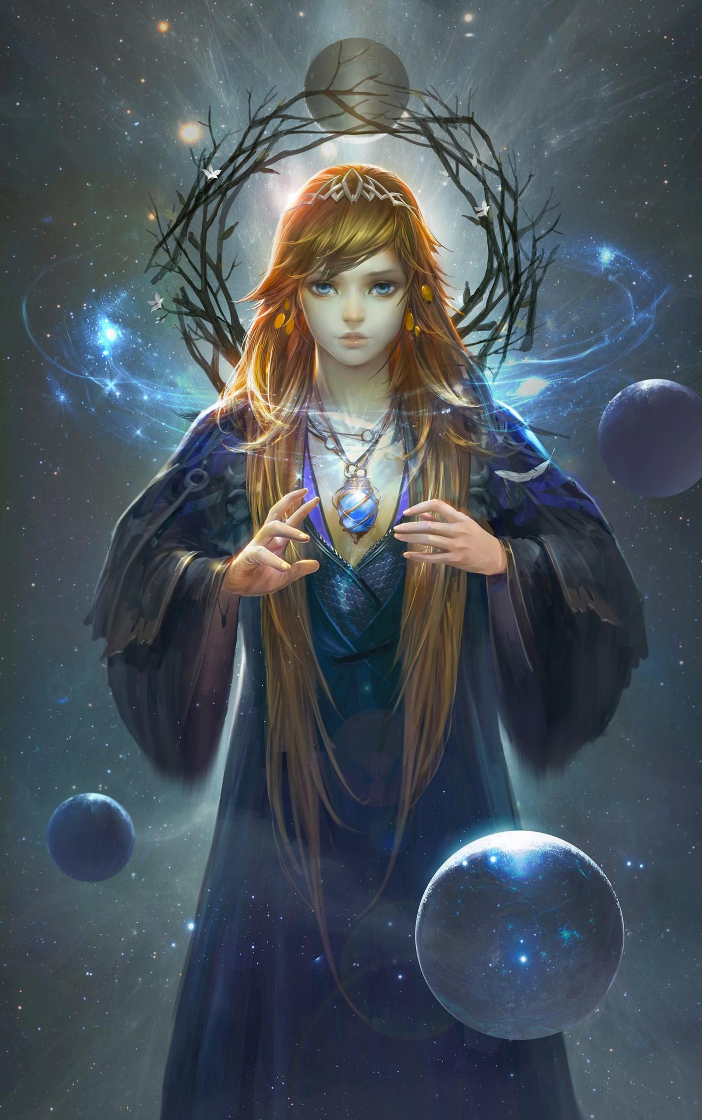 Фото Девушка - волшебница с украшением на шее, by taiwei bi