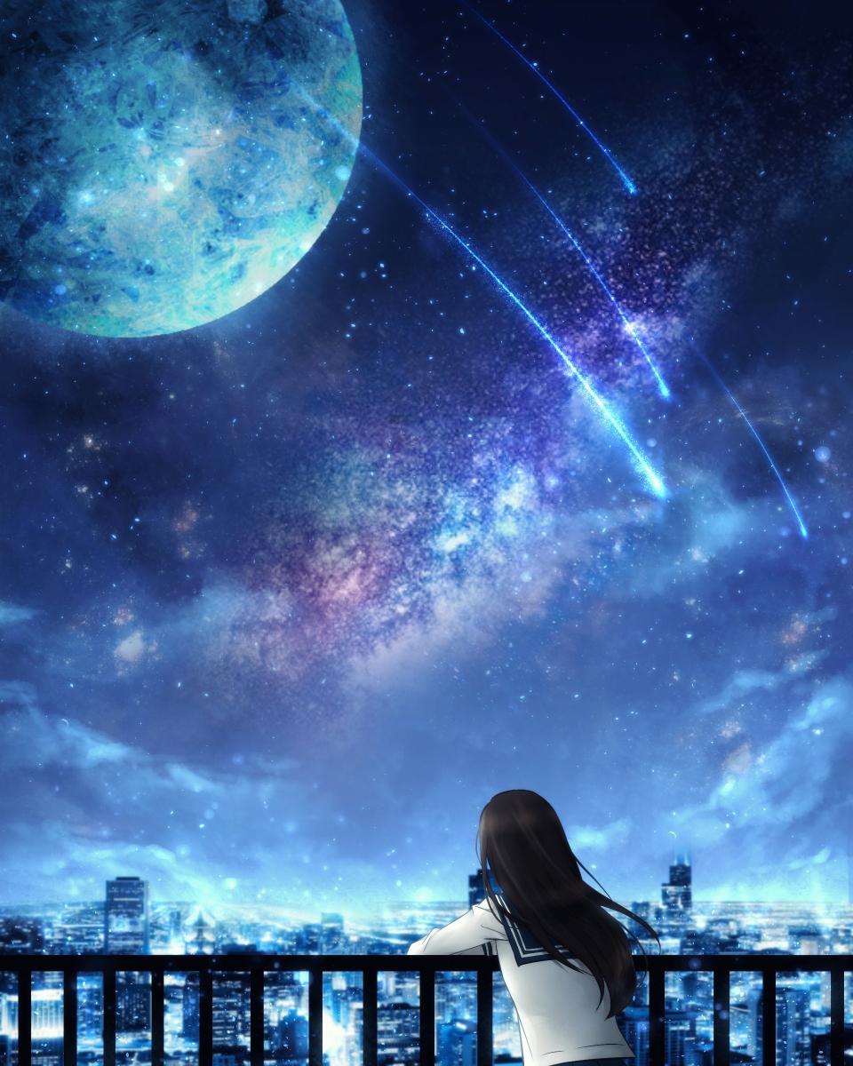 Картинки девочка и космос