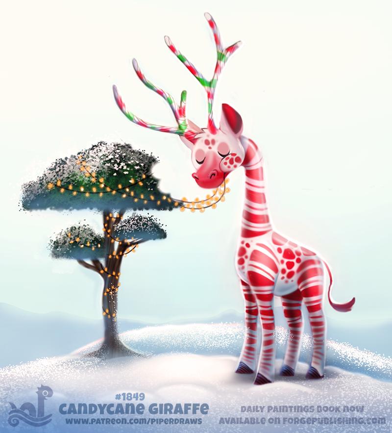 Фото Леденцовый жираф есть гирлянду (Candycane Giraffe), by Cryptid-Creations