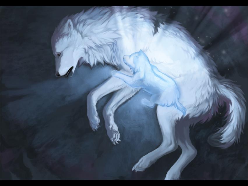 его картинки умирающих волков вытеснил