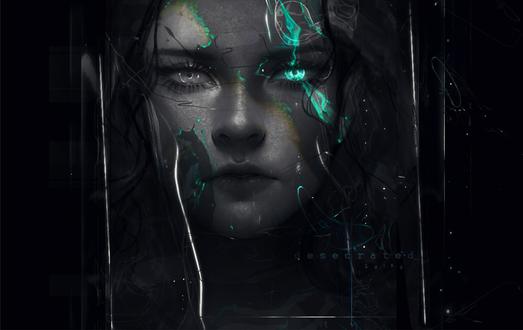 Фото Девушка со светящимся глазом, by z-a-i-n-a