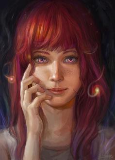 Фото Девушка с розовыми глазами, by Maximko