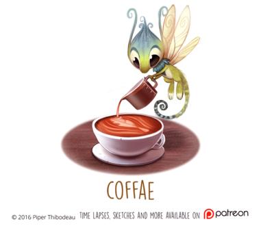 Фото Фантастическое насекомое готовит кофе, by Cryptid-Creations
